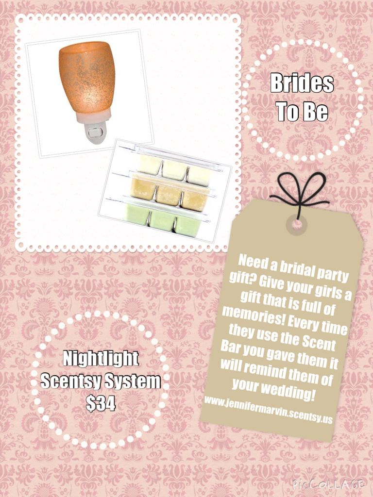 Bridal Party Gift/ Wedding Shower Gift/ Scentsy Memories www ...