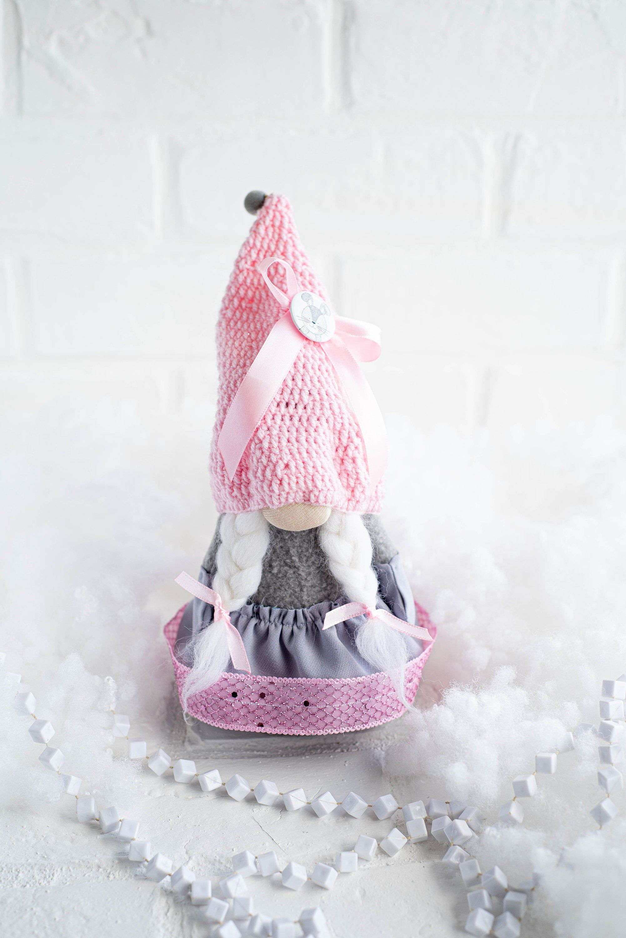 Flower gnome Spring gnome Mothers day gift Interior toy 4th of July gnome