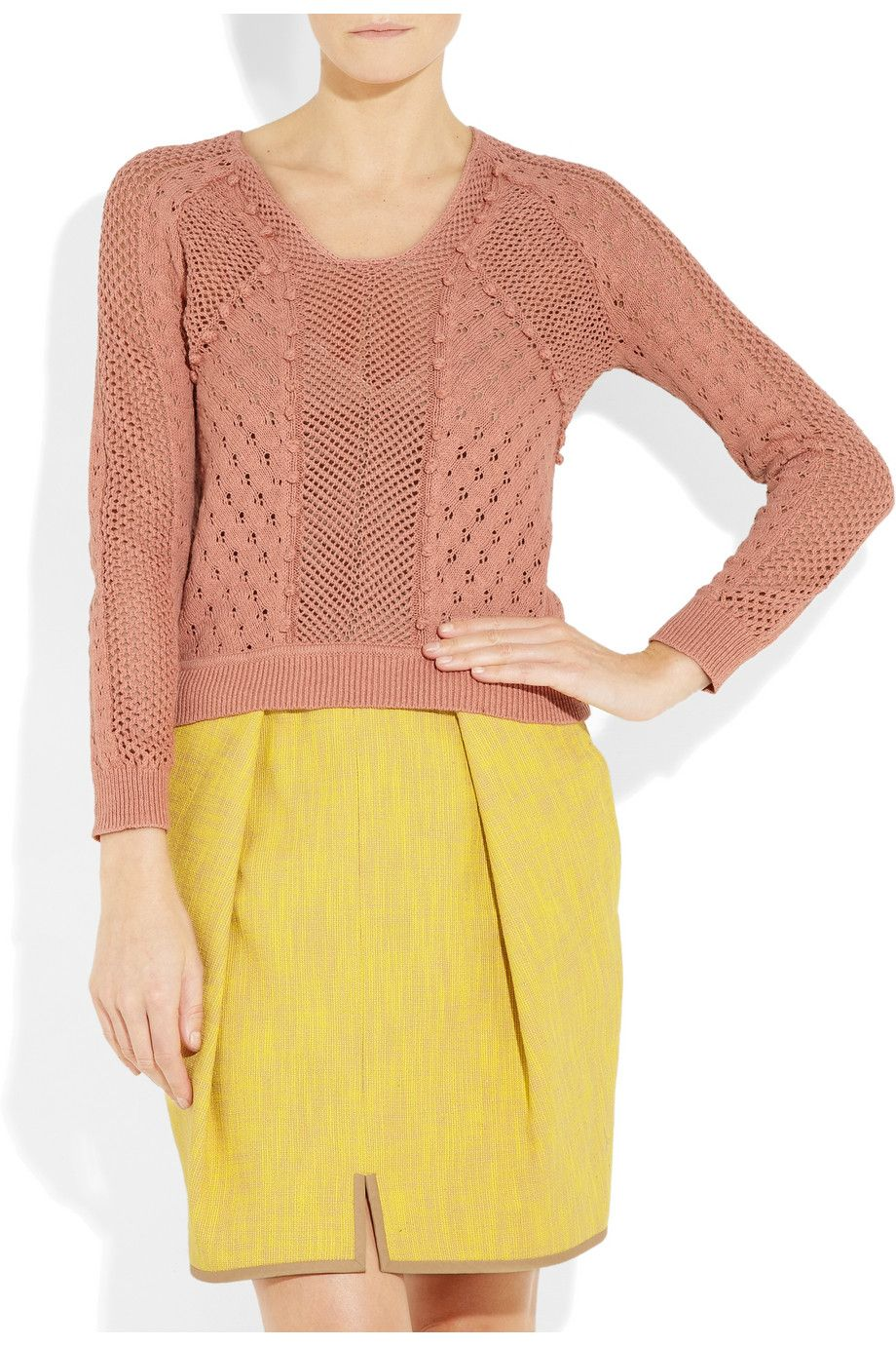 Rebecca Taylor  Cotton pointelle cardigan