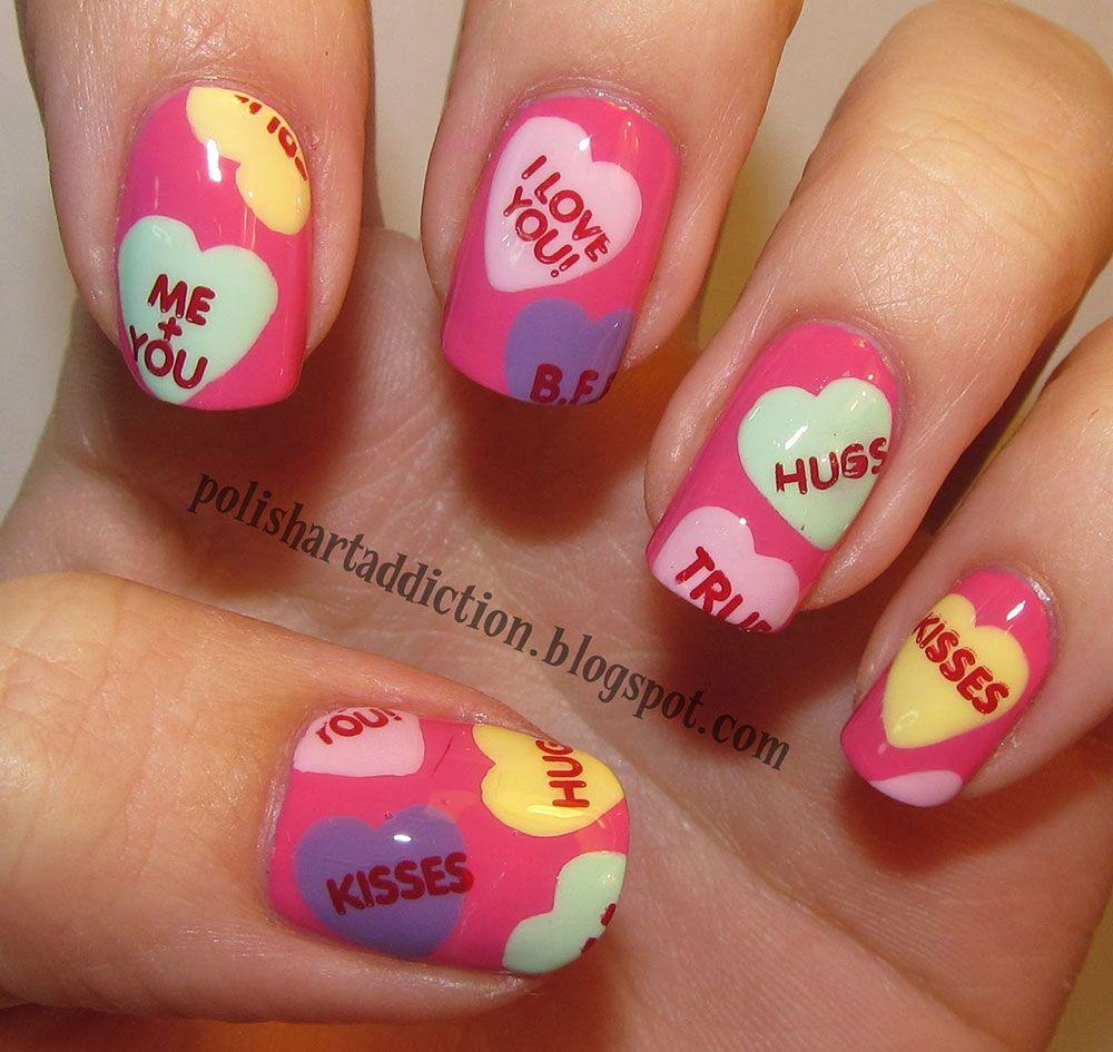 70 Fotos de uñas decoradas con corazones – Heart nail art ...