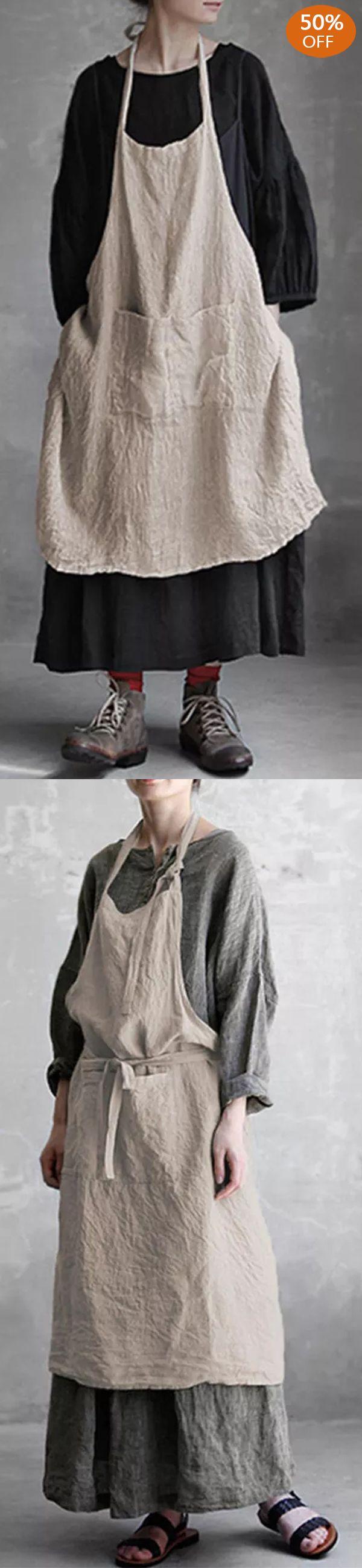 Vintage Pockets Cotton Linen Dress -   19 simple crafts kindergarten ideas