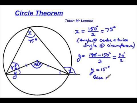 Circle Theorem Cxc Csec Practise Question 1 Circle Theorems Theorems This Or That Questions