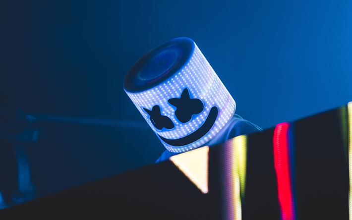 Download Wallpapers Dj Marshmello 4k Concert Night Club Dj