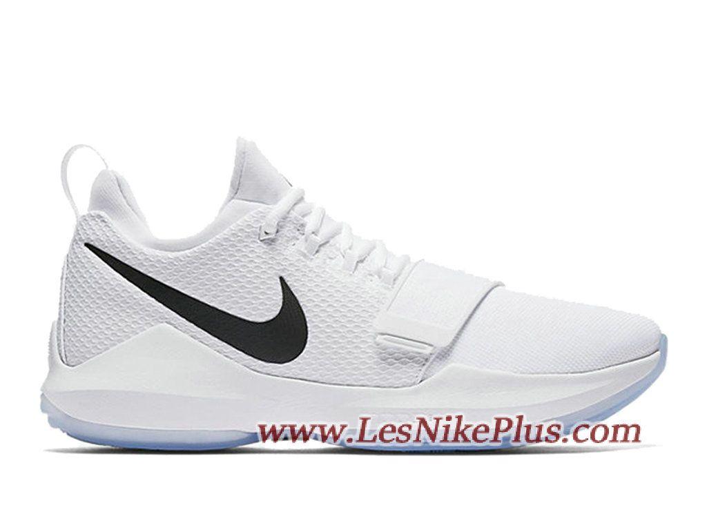 3f94efba258 Sneaker Nike PG 1 White Black Ice Chaussures de Basket Pas Cher Pour Homme  Blanc Noir