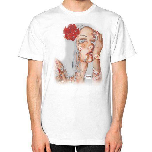 Girl rose Unisex T-Shirt (on man)