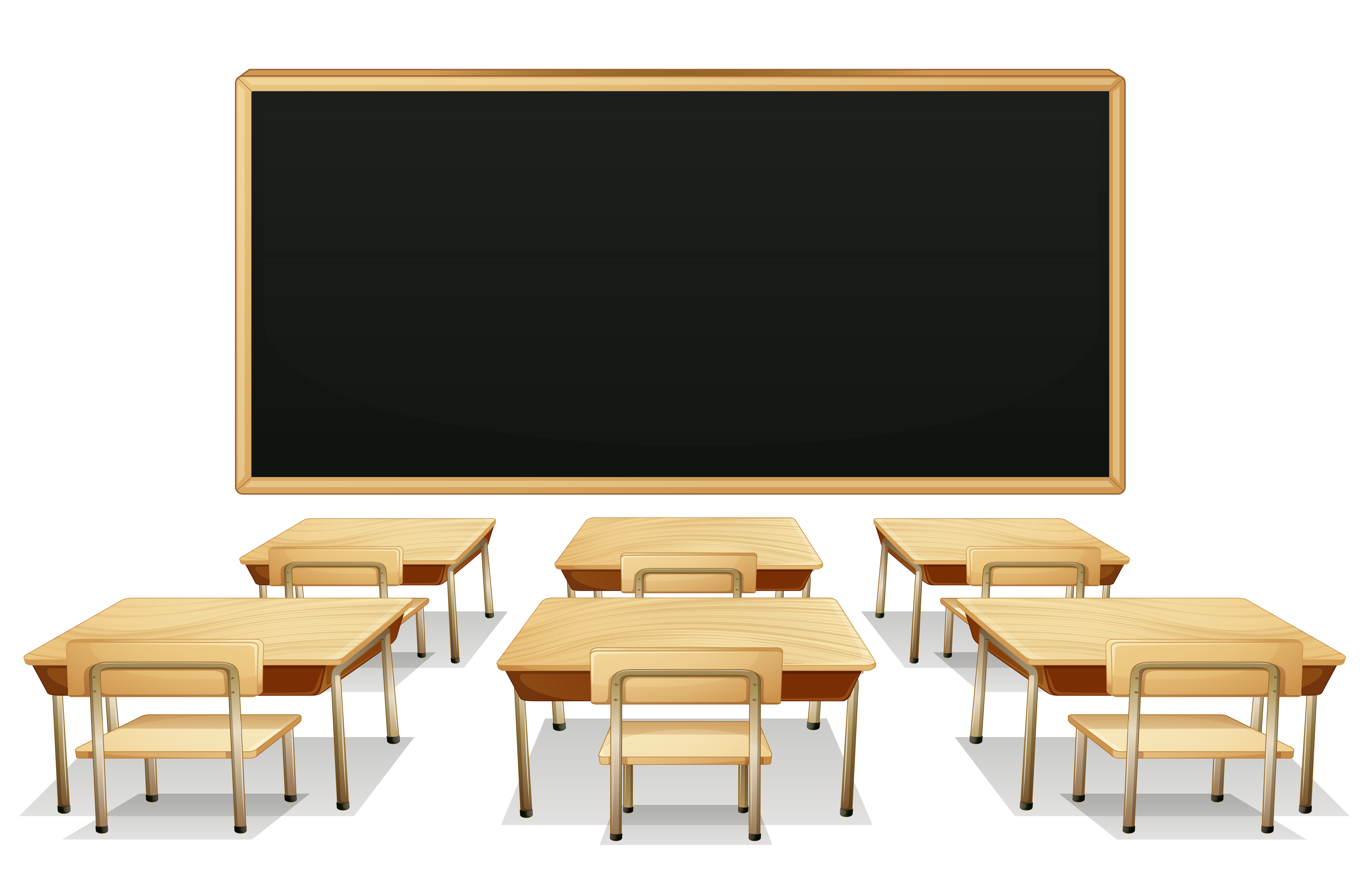 School Classroom with Blackboard and Desks PNG Clipart Picture ... for School Table Clipart  539wja