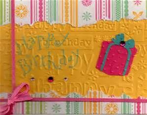 cuttle bug embossing folder happy birthday - Bing images