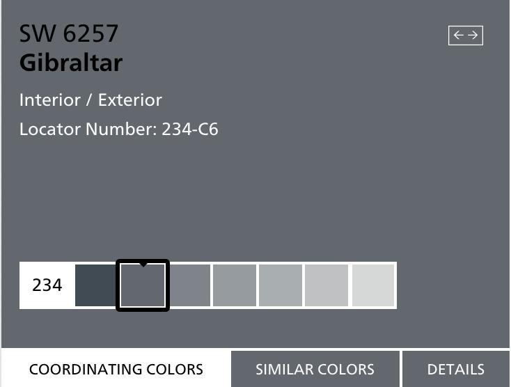Gibraltar Sw 6257 Grey Exterior House Colors Sherwin Williams Paint Colors Exterior Paint Schemes