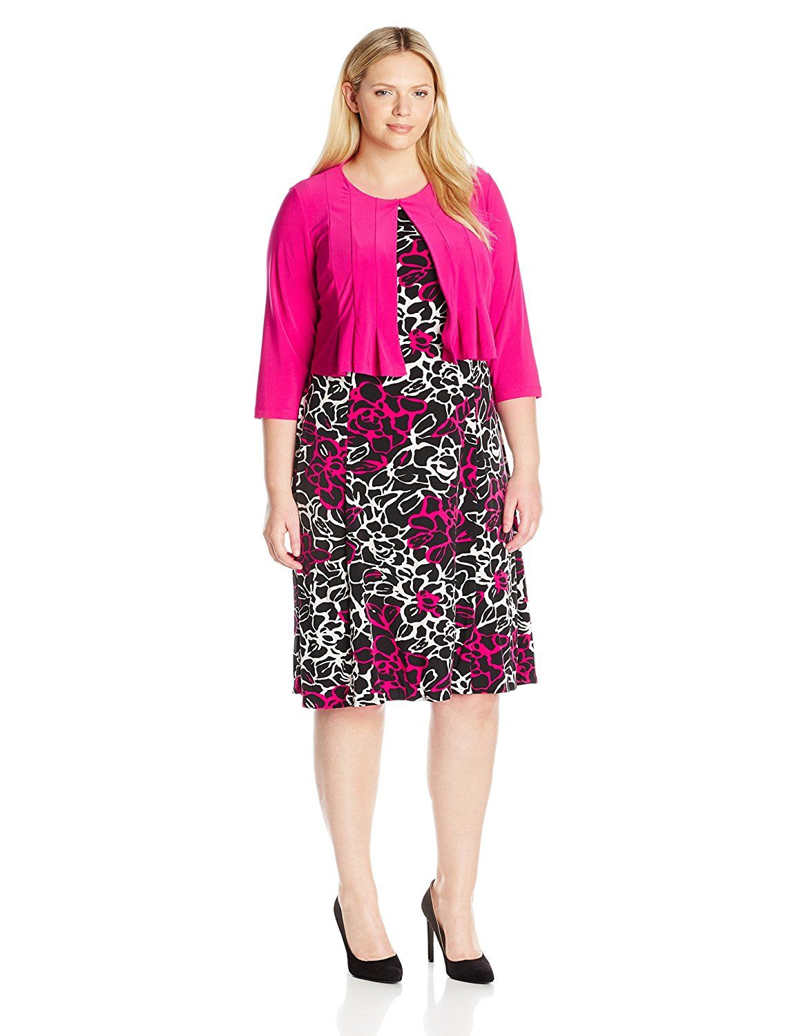 b6f6133e1b25d Danny and Nicole Women s Plus Size Floral Two Piece Jacket Dress     This  is an Amazon Affiliate link. Learn more by visiting the image link.