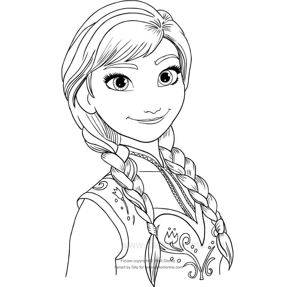 Kolorowanka Anna Kraina Lodu Nel 2020 Arte Che Ispira Anna Frozen Frozen