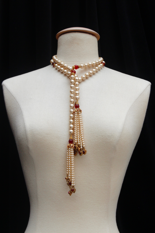 collier perle et rubis