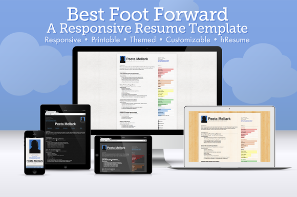 Best Foot Forward Responsive Resume Template On Sale Through Sept