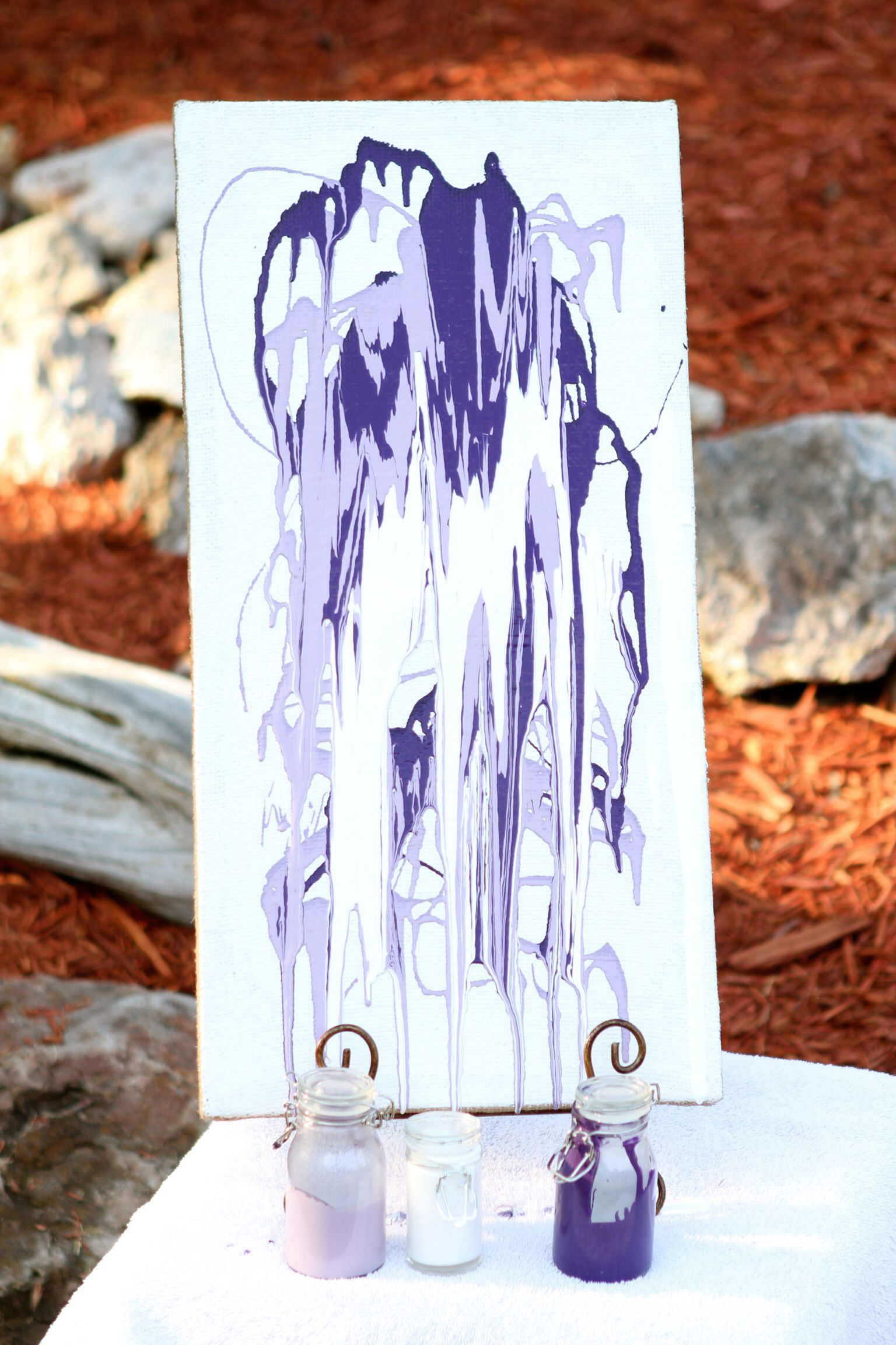 Unity painting   Wedding ceremony unity, Purple and silver ...