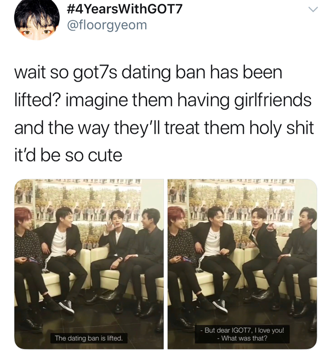Got7 dating ban lifted