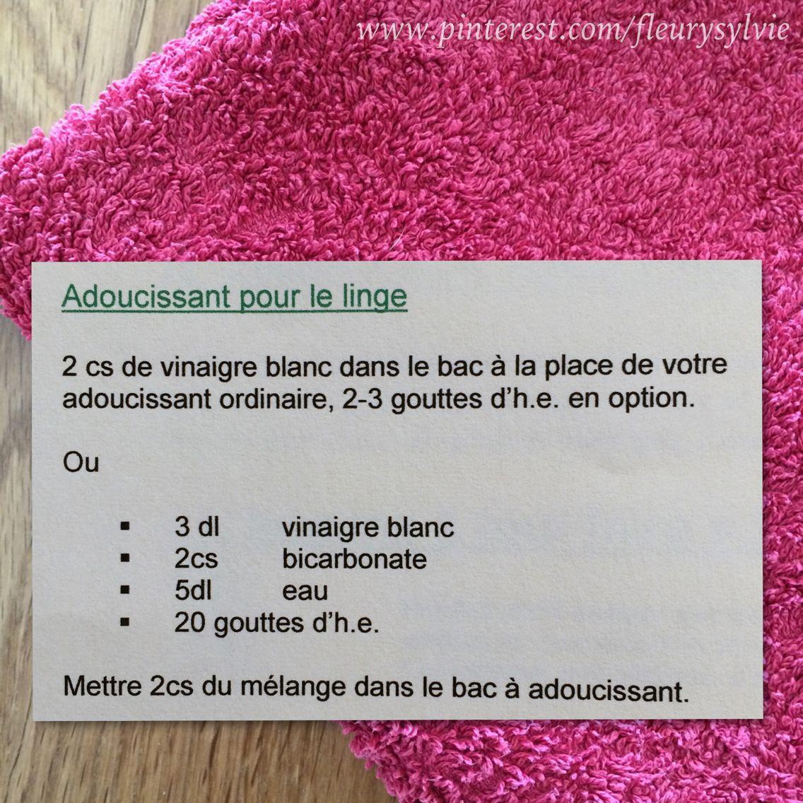 2 recettes d 39 adoucissant pour le linge pour la recette no2 attention au m lange bicarbonate. Black Bedroom Furniture Sets. Home Design Ideas