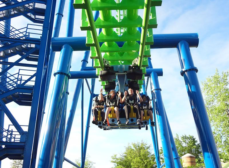 Steel Shuttle Rollercoaster Goliath Six Flags New England