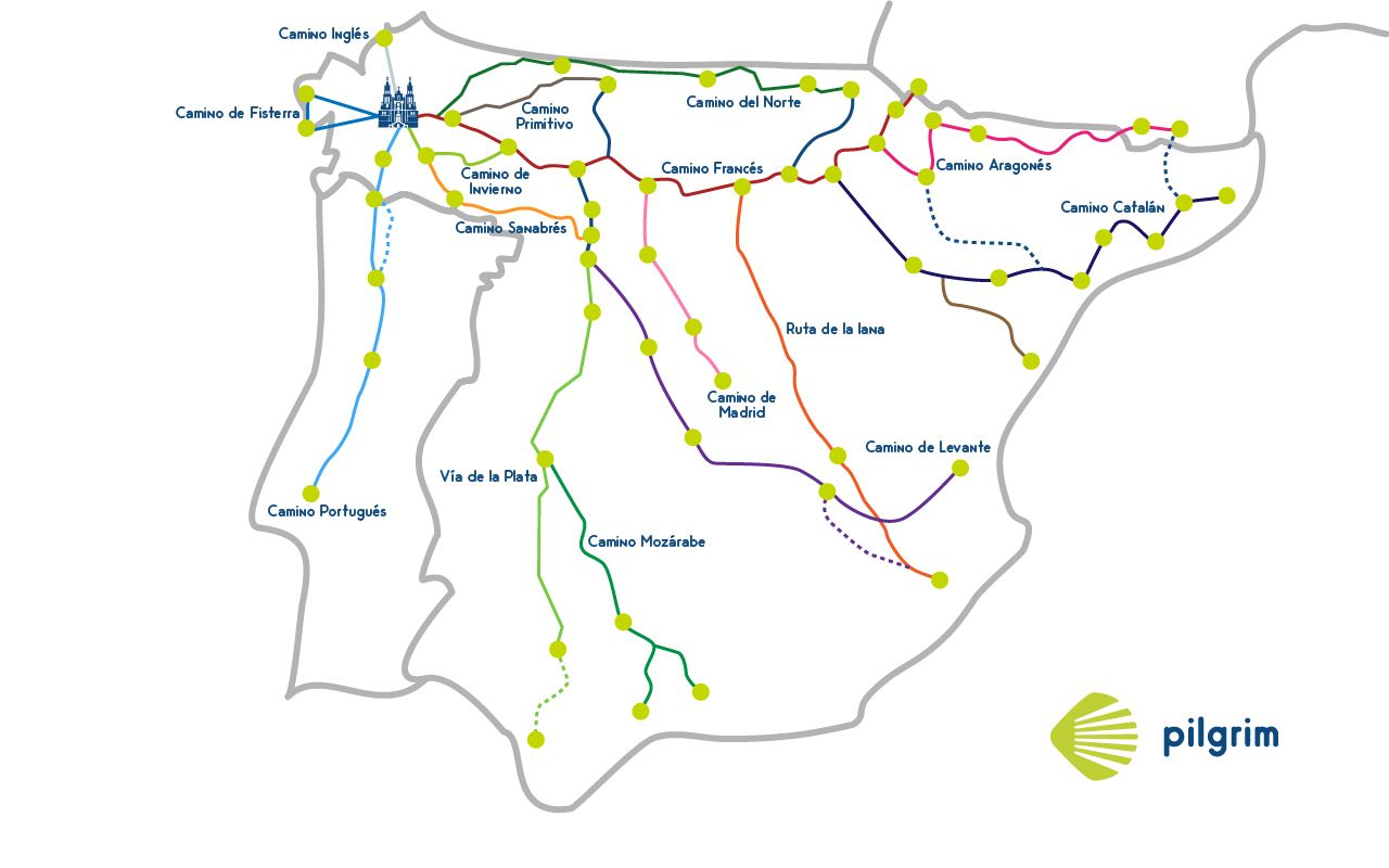 Camino Santiago Route Planner Caminodesantiago Map Routes Stages Camino Pinterest