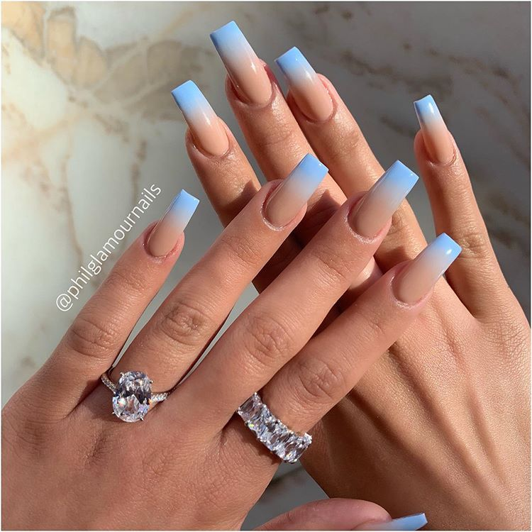 Nails Nailart Ombrenails For Her Birthday Lyssarenteria Glam Beauty Luxurylifestyle Jewelry With Drippinjeweller Square Nails Nail Designs Ombre Nails