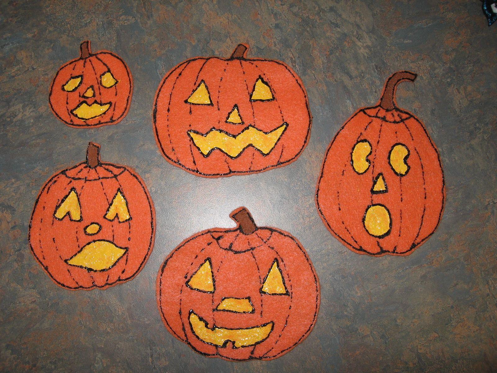 Five Little Pumpkins Sitting On A Gate Images