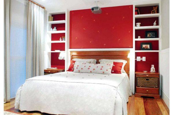 quarto feminino vermelho pequeno Pesquisa Google Casa  ~ Quarto Pequeno Vermelho