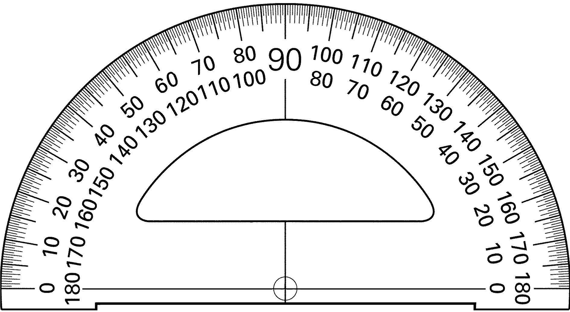Printable Protractor Online Actual Size