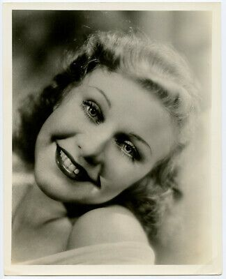 Vintage 1932 Beautiful Ginger Rogers Golden Age of Hollywood Portrait Photograph