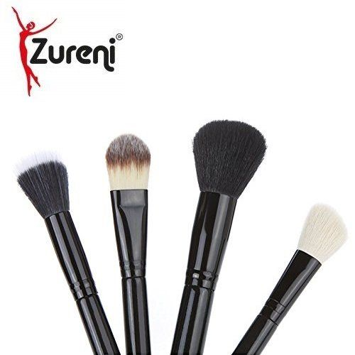 Zureni 12 pcs Makeup Brush Kit is designed for an effective every day makeup routine and contains every brush you need to create you a perfect and flawless look. Ideal for both beginners and professionals. #Zureni #makeupbrush #foundationbrush #makeupessentials #makeupproducts #makeupbrushes #makeupbrushset #brush #makeupaccessories