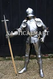 Amazon Com Nauticalmart Knight Suit Of Armor 15th Century Medieval Times Shoulder Armour Breastplate Metal Costu In 2020 Shoulder Armor Suit Of Armor Knight Halloween