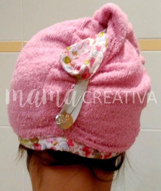 Cómo hacer un turbante para el pelo ¡¡¡con una toalla!!! 9b4f4636cef