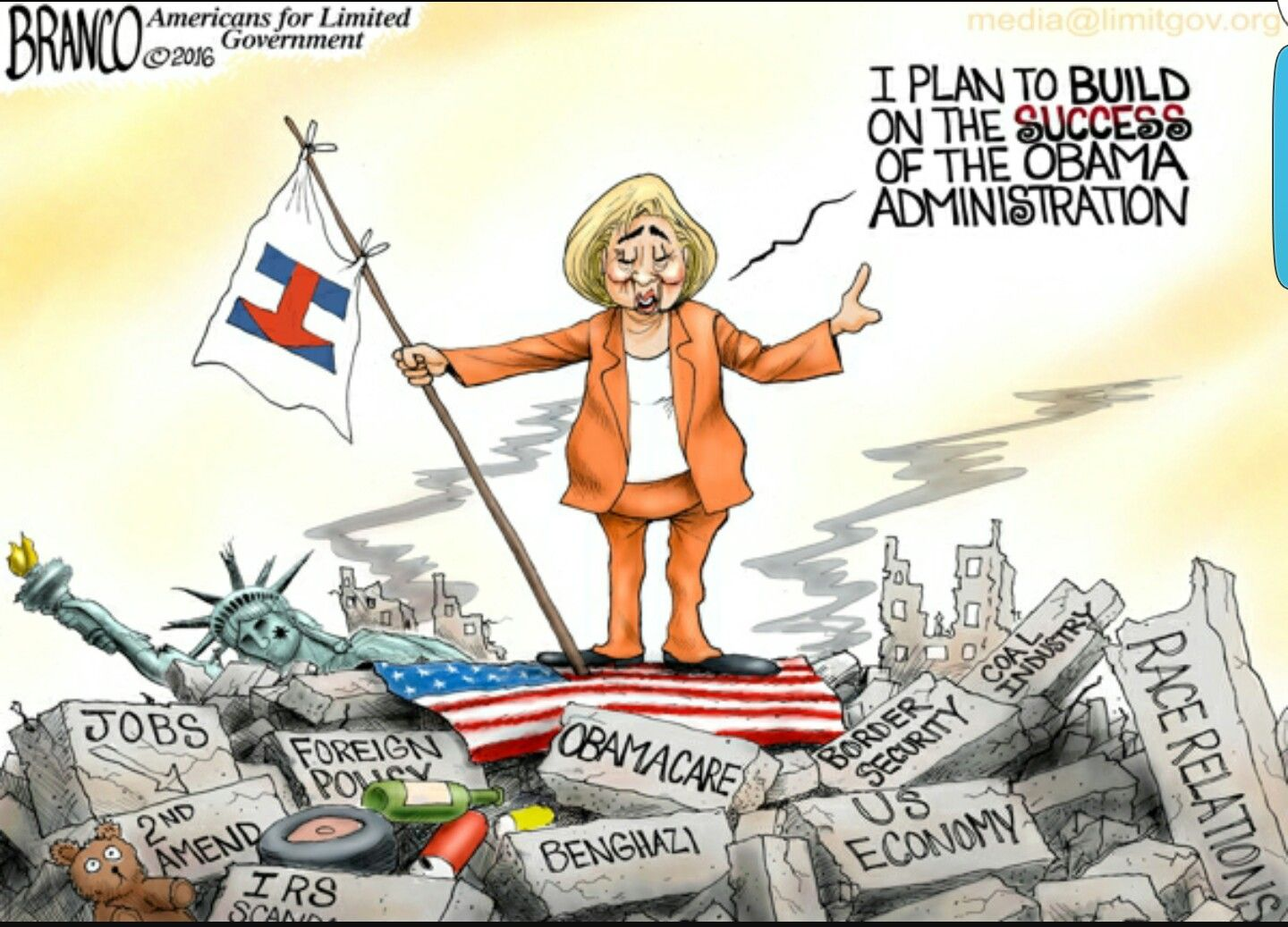 Mercedes Meyers Caricature Cartoon About Hillarys Political
