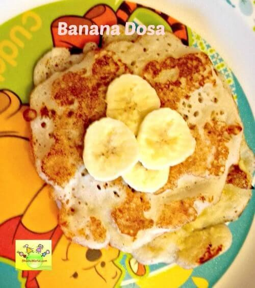 Banana dosa for kids breakfast pinterest indian breakfast banana dosa is a yummy and healthy snack for kids and it is very easy to prepare forumfinder Choice Image