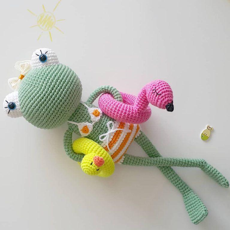 Amigurumi Crochet Frog (Kurbağa) Free Pattern #crochetamigurumifreepatterns