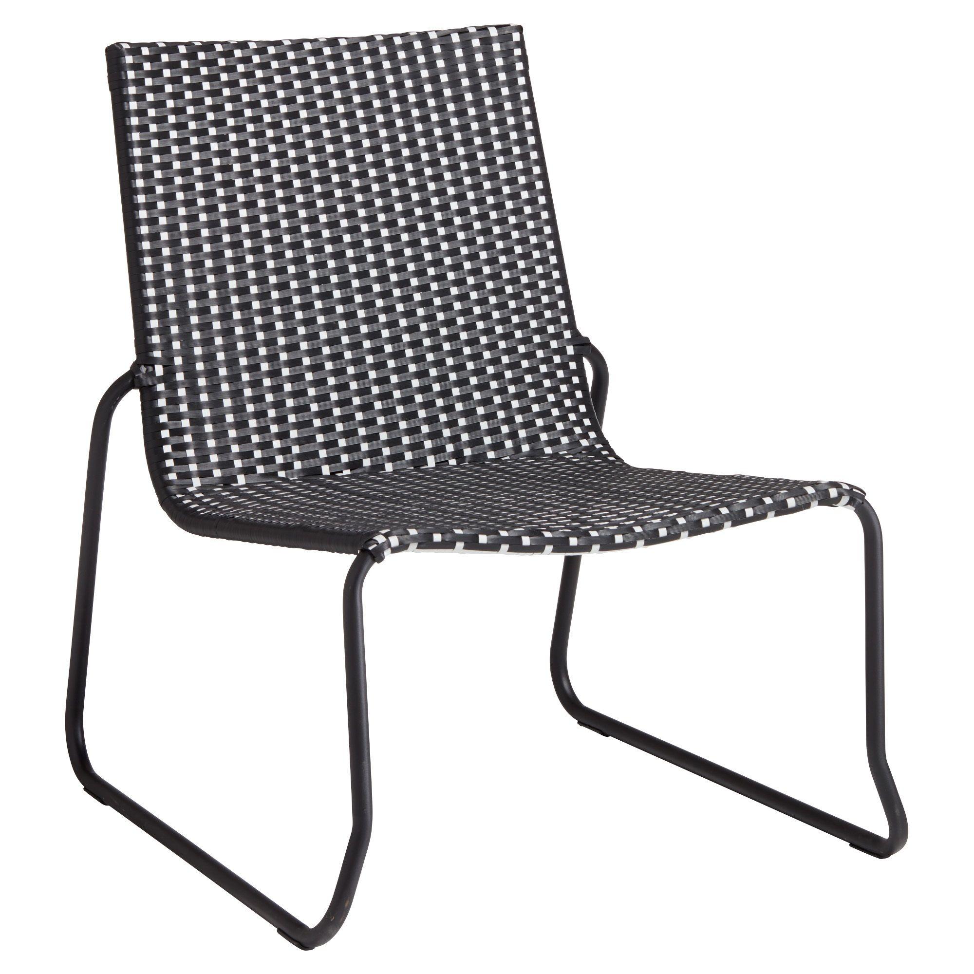 Zwarte Lounge Stoel.Loungestoel Met Stoere Zwarte Vormgeving 65x70x75 Cm Lxbxh Tuin