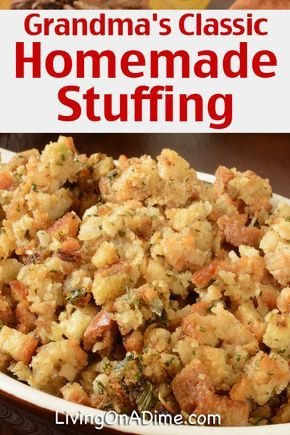 Traditional Thanksgiving Recipes - Dinner For 10 For Less Than $25! -   18 stuffing recipes easy thanksgiving ideas