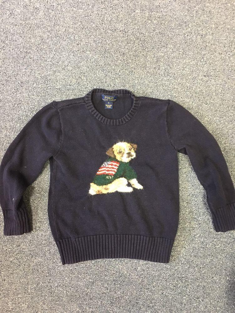 Kids Polo Ralph Lauren Flag Dog Sweater   EBay