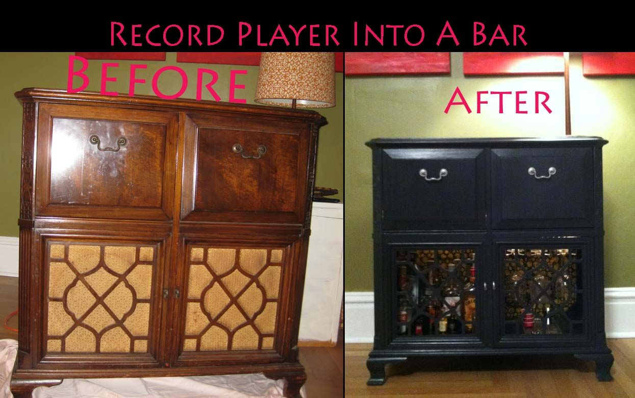 The Record Player I Turned Into A Bar It Didn T Work As A Record