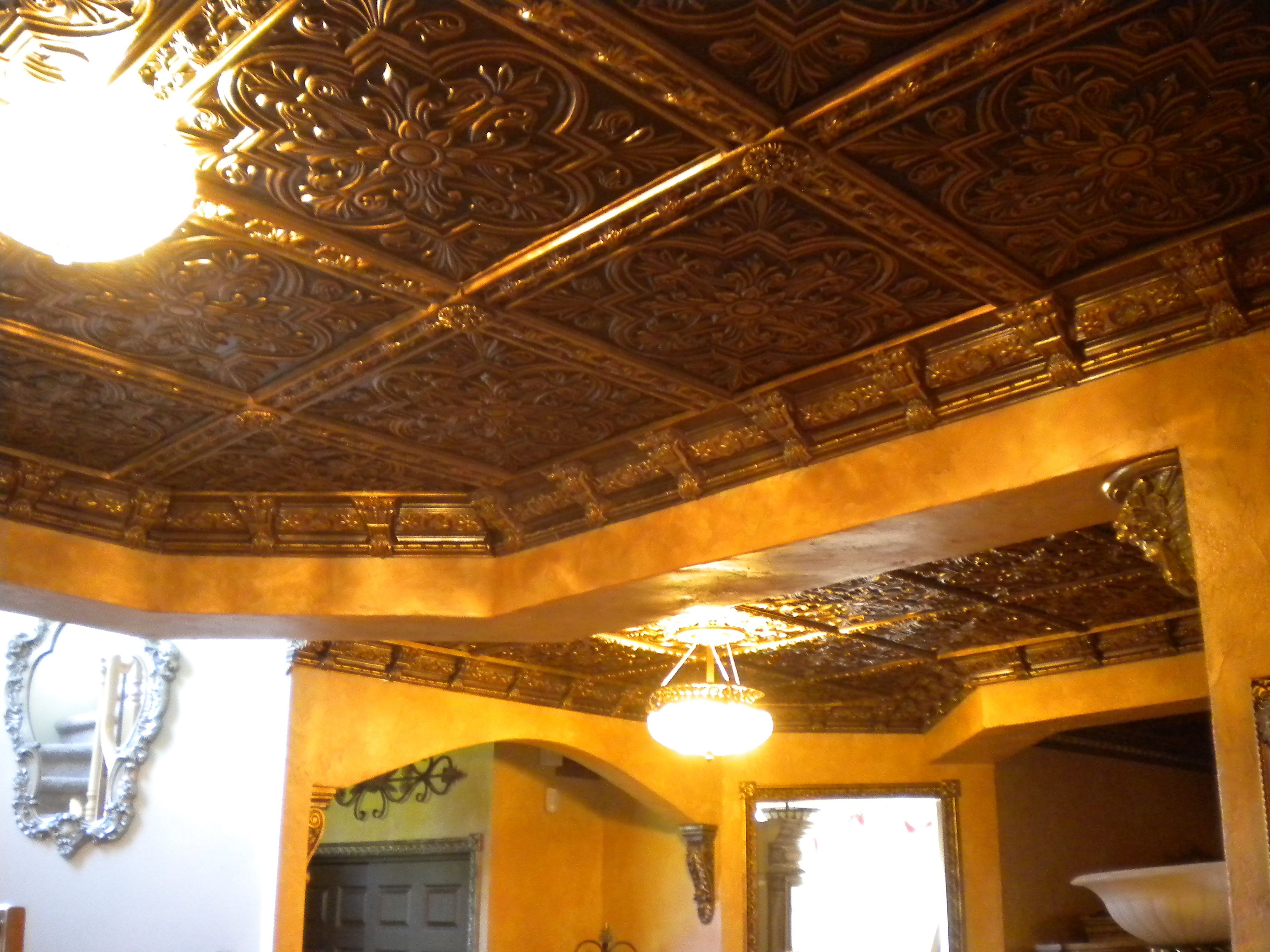 Real copper or tin ceiling tiles or are they faux pvc look alikes real copper or tin ceiling tiles or are they faux pvc look alikes these doublecrazyfo Image collections