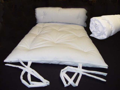 Brand New White Traditional Japanese Floor Futon Mattresses Foldable Cushion Mats Yoga Meditaion