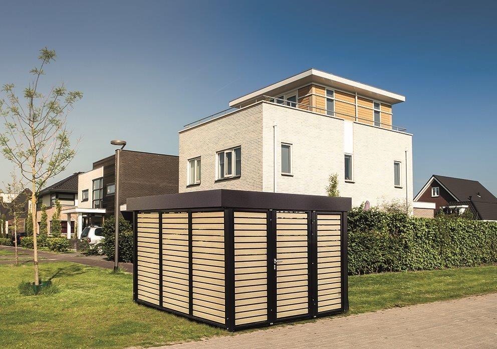 Carport als Gerätehaus mit WPC Elementen Carport modern