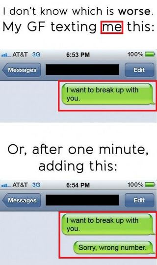 22 Breakup Texts That Are so Bad They're Hilarious