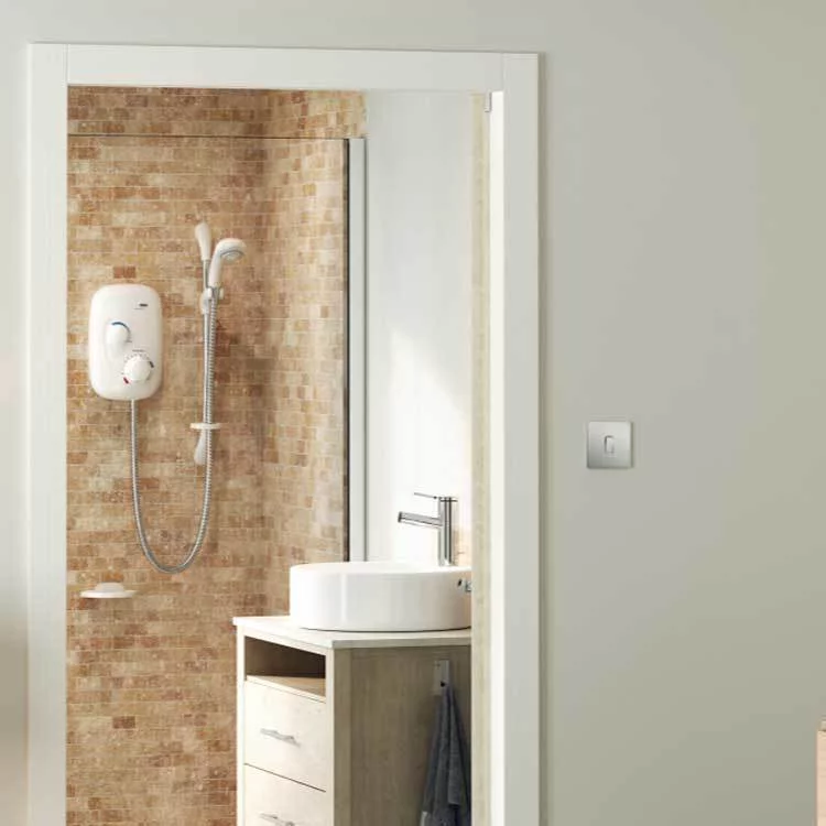 Mira Event Xs Thermostatic Power Shower White Chrome Power
