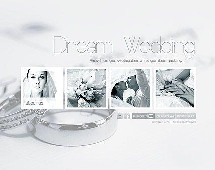 Wedding Planner Flash Website Template Best Website Templates