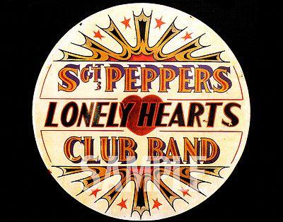 "The Beatles Alternate Sgt Pepper drumskin Photo Print 14 x 11/"""