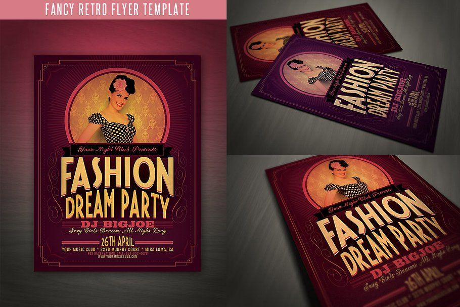 fancy retro flyer template retro fancy flyer templates design
