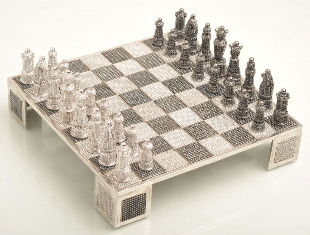 Swarovski Crystals Chess Chess Set Swarovski Gem Expensive Diamond