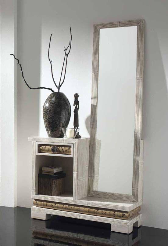recibidores modernos para espacios pequeños - Buscar con Google - muebles de bambu modernos