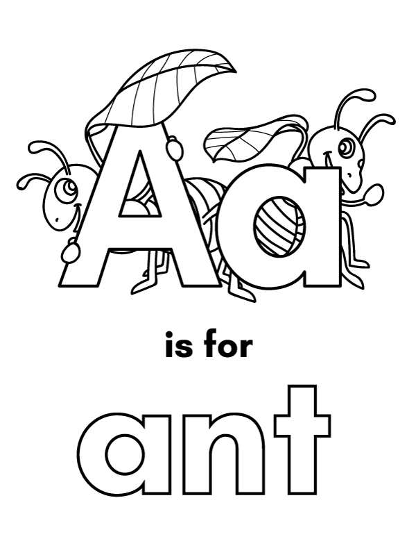 Pin By The Big A Word On Alphabet Printables Lettering Alphabet Coloring Letters Letter A Coloring Pages