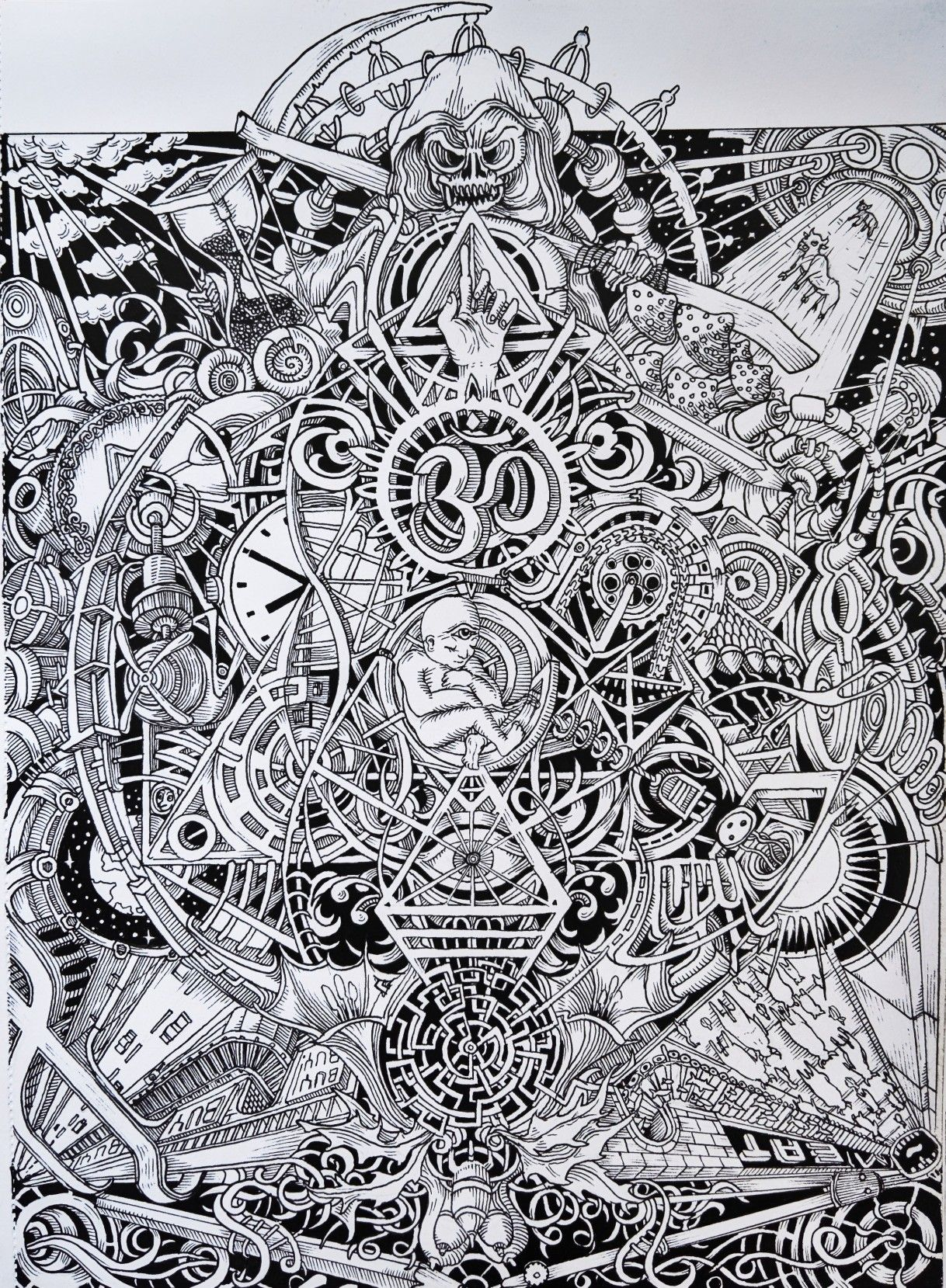 Visionary Art Psychedelic Trip Drawing Psychedelic Drawings