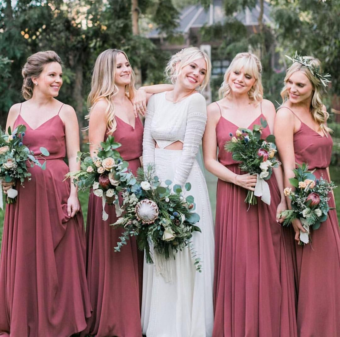294 likes 4 comments jenny yoo collection jennyyoonyc on boho chic bridesmaids for the win our inesse dress in cinnamon rose photo by ombrellifo Images