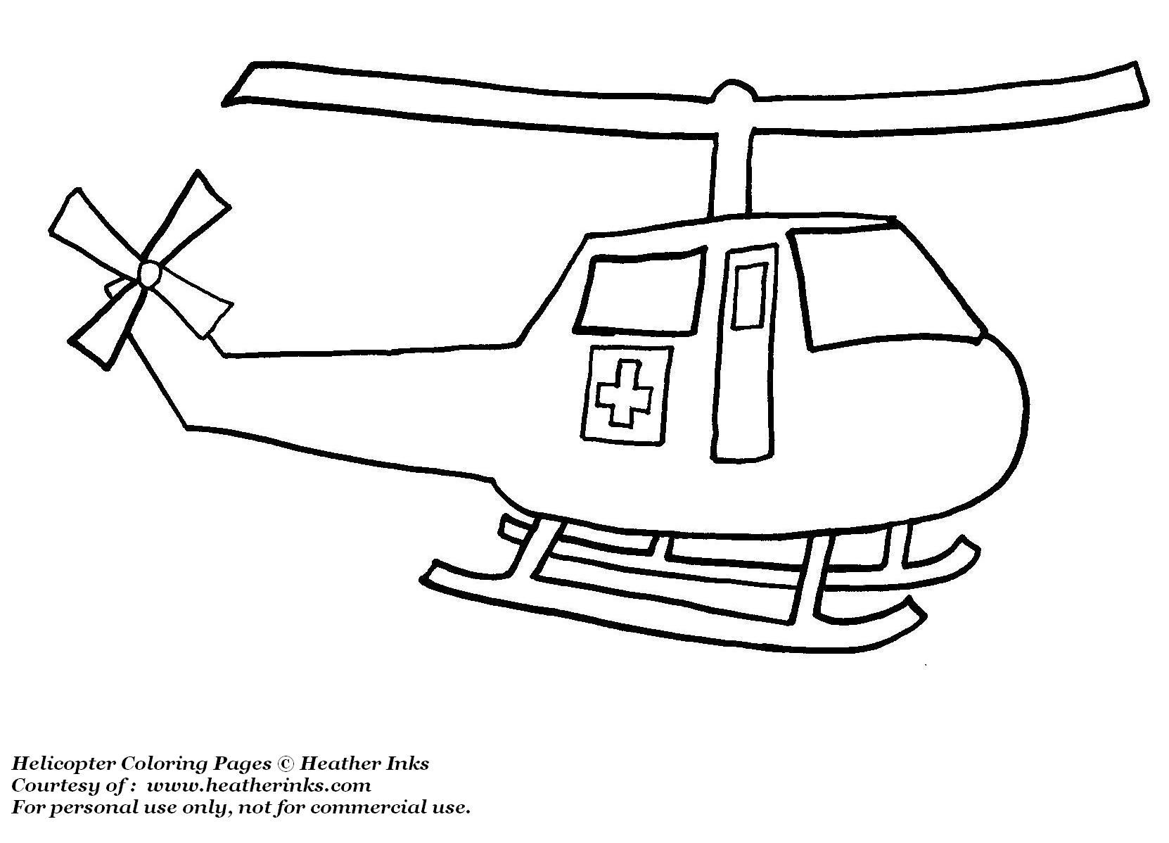 Coloring Pages Kids Helicopter Coloring Pages To Print